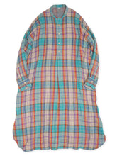 Double Cloth Madras Eastern Dress in Turquoise
