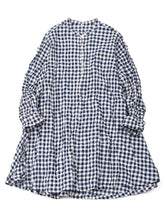 Gingham Tunic in Navy
