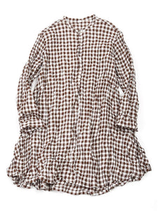 Gingham Tunic in Brown
