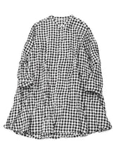 Gingham Tunic in Black