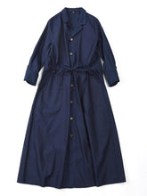 Indigo Oxford Shirt Dress in Indigo
