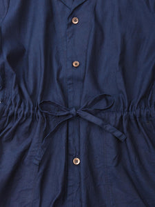 Indigo Oxford Shirt Dress