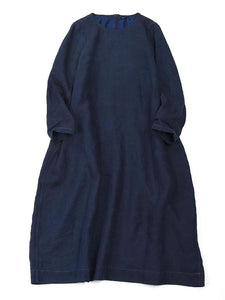 Indigo Linen Dress in Indigo