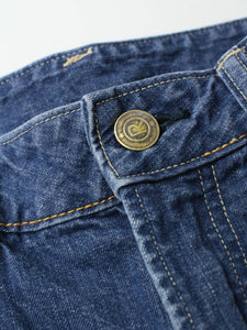Indigo Cotton Akane Distressed Denim Pants