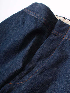 Cotton Linen Stretch Denim Easy Slim