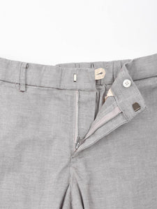 Cotton Linen Oxford Stretch Easy Slim Pants