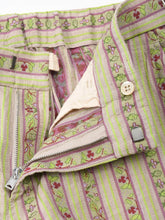 Cotton Linen Jacquard Easy Slacks