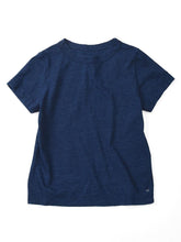 Women's Indigo Cotton Essential Short Sleeve T-Shirt in biaude