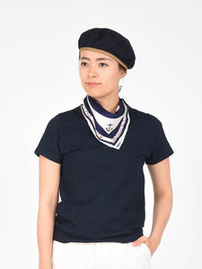 Women's Indigo Cotton Essential Short Sleeve T-Shirt