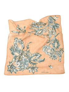 Supima Organic Gauze Flower Print Bandana in Yellow