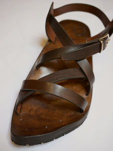 Leather Sandals in dark brown
