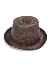 Panama Straw Hat in dark brown