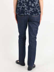 Indigo One Wash Cotton Denim Akanehime