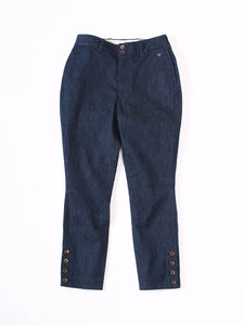 Mugihiko Stretch Umahime Pants in Indigo