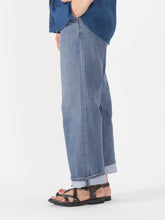Okome Cotton Denim Charlotte Wide Pants