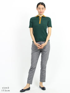 Organic Ice Cotton Rib Polo Shirt