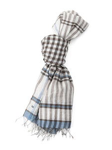 Run Run Gimgham Stole in brown gingham