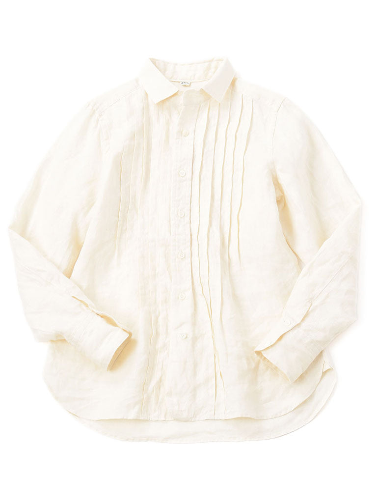 Majotae Pin Tuck Shirt in Natural
