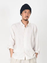 Linen After Dye 908 Small Collar Ocean Shirt