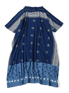 Indigo Jersey Dot Print Dress in indigo