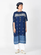 Indigo Cotton Jersey Dot Print Dress