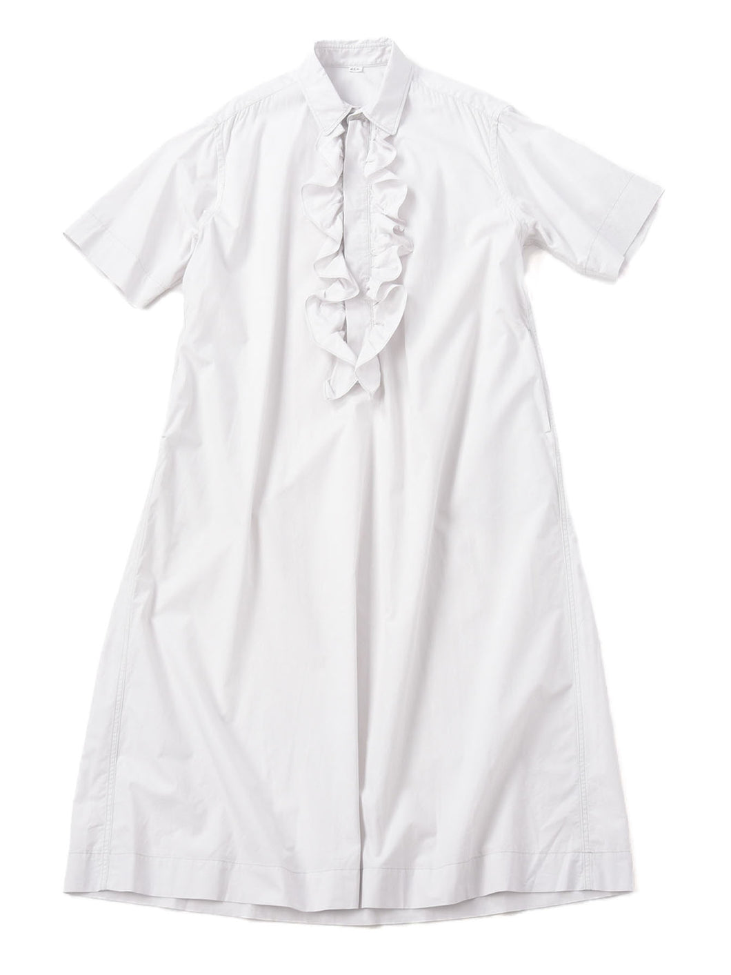 Damp Cotton Ocean Frill Dress in white