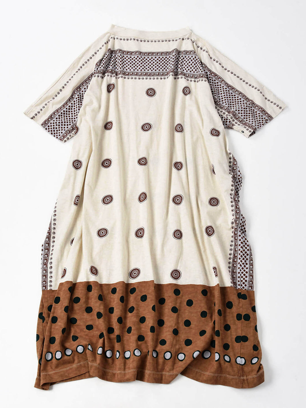 Jersey Dot Print Dress in white
