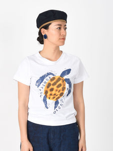 Ocean Story Zimba Cotton Print Short Sleeve T-shirt (Turtle)