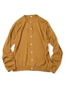 Organic Cotton Cardigan in camel