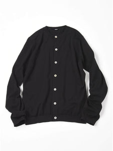 Organic Cotton Cardigan in black