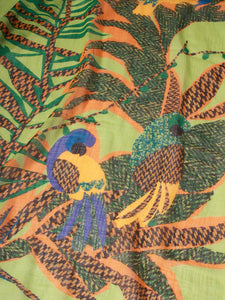 Gauze Safari Embroidery Stole