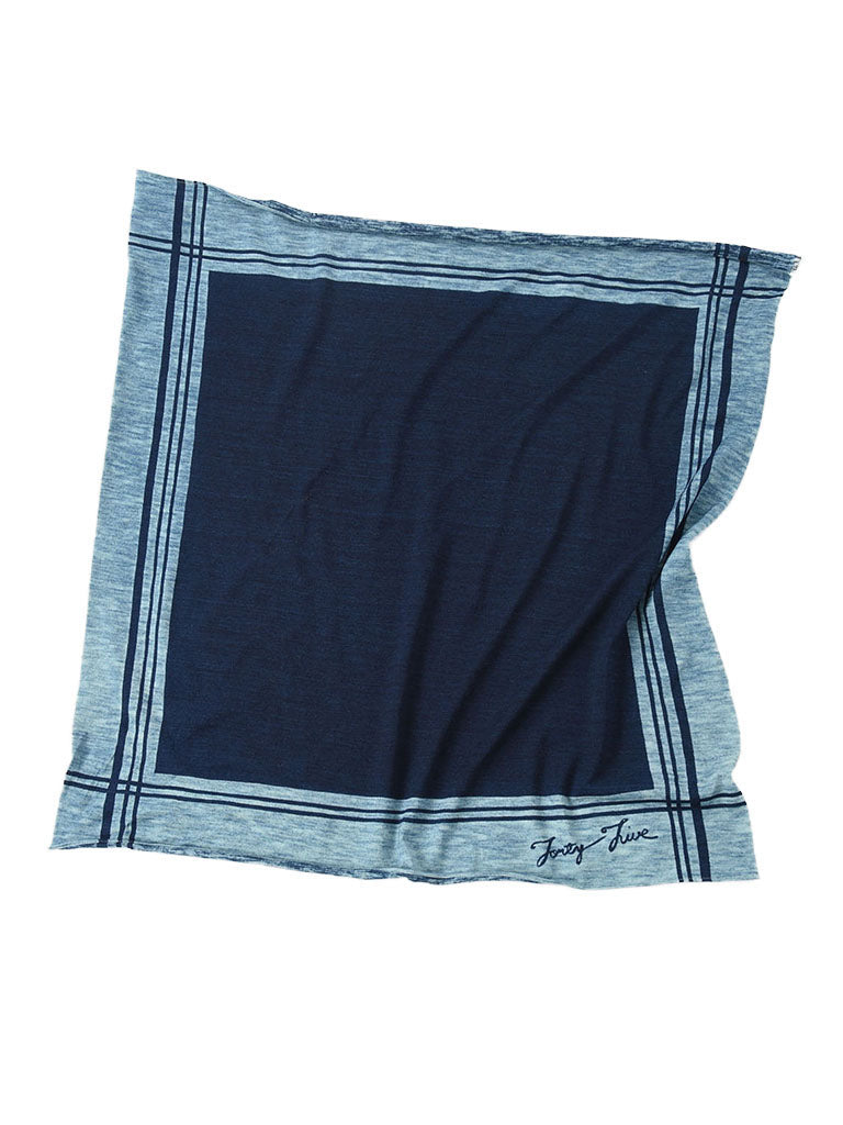 Indigo Jersey Cotton Bandana in indigo