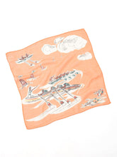 Cotton Gauze Vacance Book Bandana in orange canoe