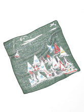 Cotton Gauze Vacance Book Bandana in green