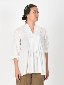 Khadi Cotton Pintuck Blouse