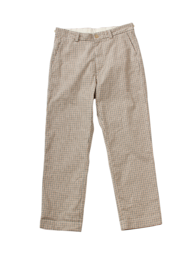 Oxford Stretch 908 Coin Chino in Khaki Tattersall Check