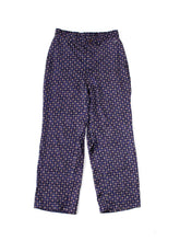 Rayon Satin Komon Print Easy Pants in Navy