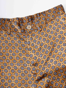 Women's Rayon Satin Komon Print Easy Pants