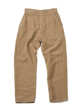 After Dye Linen Unisex 908  Baker Pants in khaki