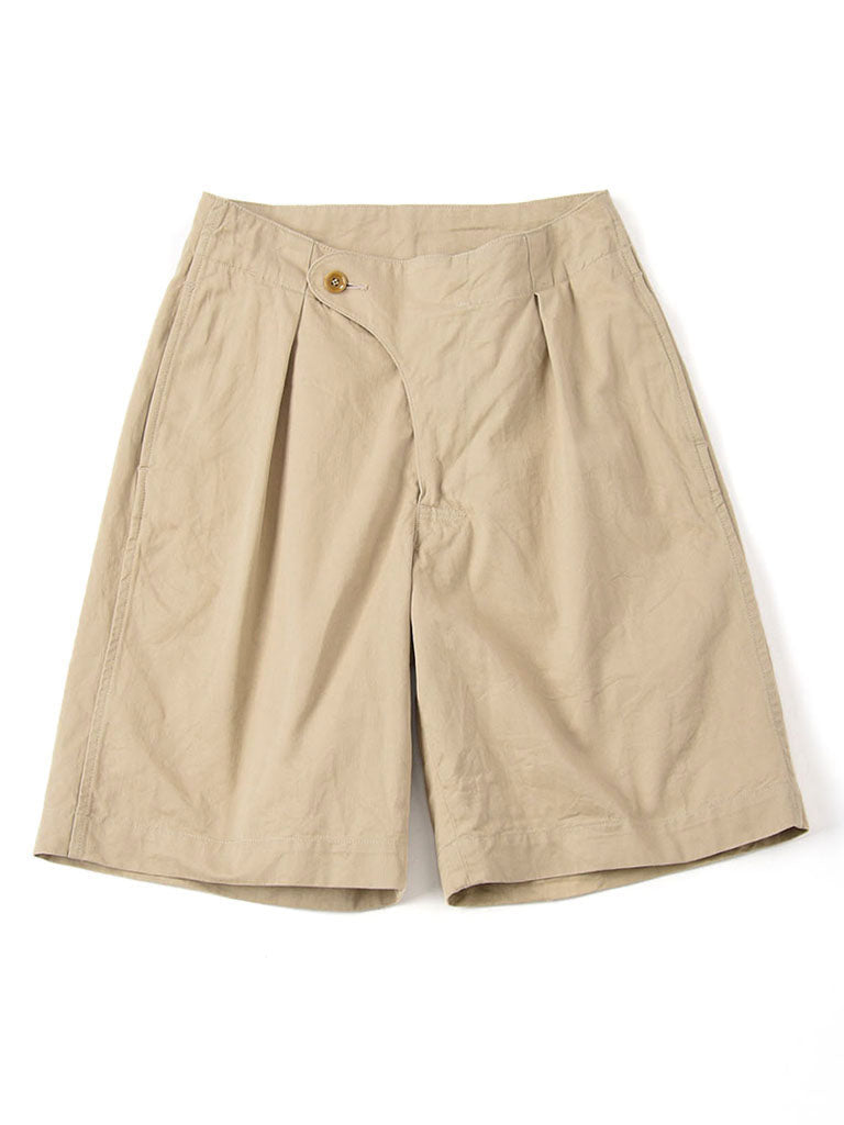 Okome Cotton Chino Unisex 908 Easy Short Pants in beige