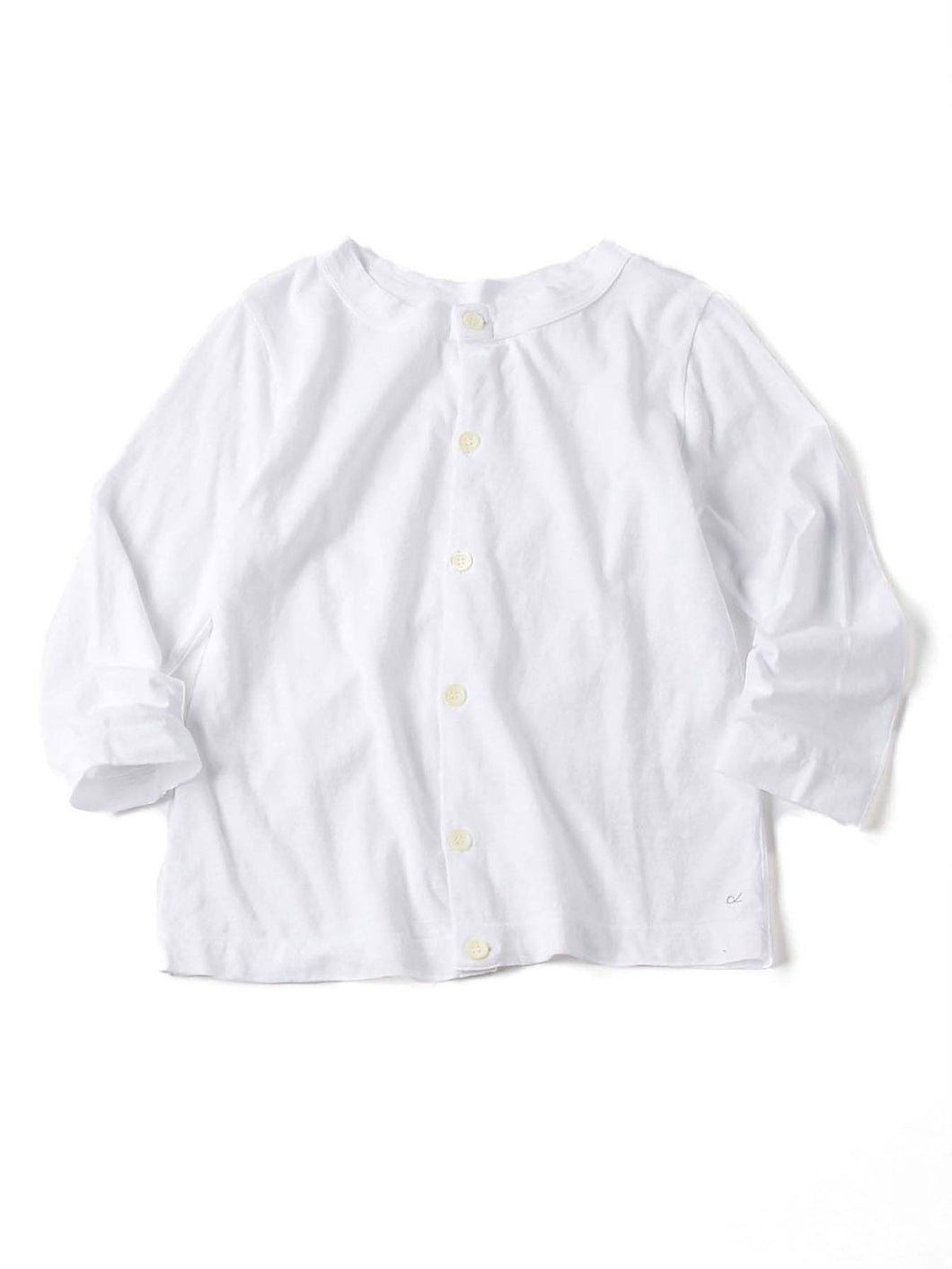 Zimba Cotton 45 Star 3/4 Sleeve Cardigan in white