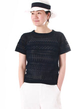 Indigo Knit Lace T-shirt