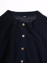 Indigo Lace Knit Cardigan