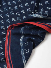 Indigo Cotton Tenjiku Anchor Komon Bandana