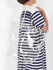 PVC Big Shopper Bag in clear