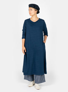 Indigo 45 Star Zimba Cotton Tenjiku Long Sleeve Dress