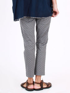 Tile Jacquard Stretch Slim Pants