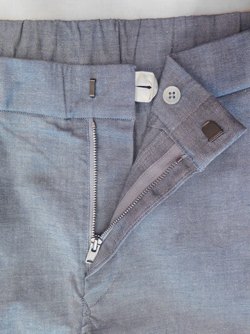 Cotton Linen Stretch Slim Pants