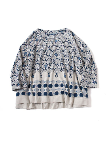 Indigo African Peacock Big T-shirt