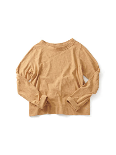 Zimba Tenjiku Square Long Sleeve T-shirt in Caramel